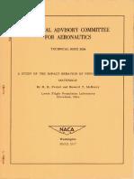 Impact Behaviour of High-temperatures Materials NACA