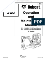 Manual Bobcat 325 328 Mini Compact Excavators Operation Maintenance Safety Instructions System Setup Analysis Specs