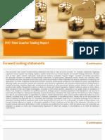 Smith & Nephew Q3 2017 Trading Report Presentation