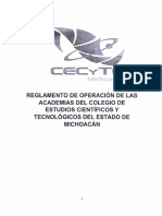 Reglamento de Operación de Las Academias CECyTEM
