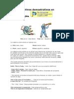 Adjetivos Demostrativos en Inglés