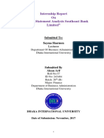 """""""Financial Statement Analysis Southeast Bank Limited"""""""