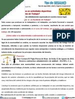 Los Accidentes en Actividad Deportiva Accidentes de Trabajo Tips Sesaho2 Acc Deporti