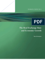 The Real Exchange Rate and Economic Growth Barry Eichengreen