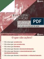 2-A Ação Humana - Rede Conceptual Da Ação
