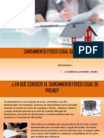 Saneamiento Fisico Legal de Predio