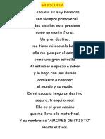 MI ESCUELA Poesioa Francisca