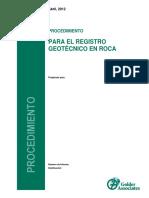 Procedimiento Para El Registro Geotecnico en Roca_rev 1 Bt Mod 02-08-13