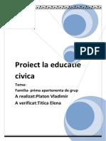 Proiect La Educatie Civica