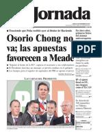 portada de La Jornada 27 de noviembre de 2017