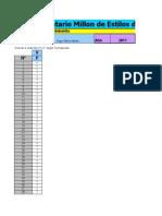 Inventario de Estilos de Personalidad de Millon MIPS Excel Maravilloso