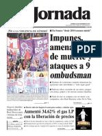 portada de La Jornada 26 de noviembre de 2017