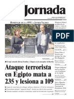 portada de La Jornada 25 de noviembre de 2017