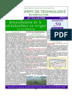 Btt59-Intensification de La Céréaliculture en Irrigué