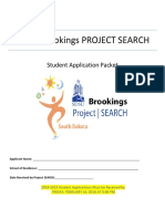 2017-18 SDSU-Brookings Project SEARCH Application