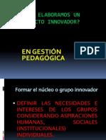 Elabora Proyecto Innovador Pedagogico 20051