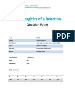 61 - Energetics of a Reaction Qp