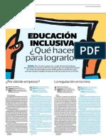 Educación inclusiva,  ¿qué hacer para lograrlo? - Mariana Rodríguez y Hugo Ñopo - El Comercio - 27/11/2017