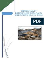 Criterios de Diseño Para Ptar Dam Caso Clase