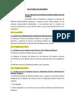 Defensa Pública, AMAG, PROFA, PCA.