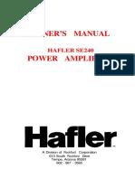 Hafler Se240 Amp Man