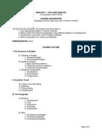 ENG 1 Syllabus (1st Sem, 2014-2015)