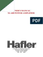 Hafler Xl-600 Amp Man