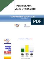 Laporan Real Quick Count Script Inter Media Matra - 2010
