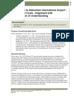 ETS Service to Edmonton International Airport - Options and Costs - Alignment with Memorandum of Understanding