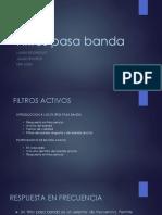 Filtros activos Pasa Banda