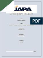 TAREA 1 Aprendizaje. - Conducta y Análisis de La Conducta