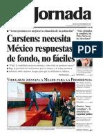 Portada de La Jornada 23 de noveimbre de 2017