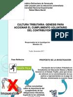 Presentación Del Proyecto de Investigación Cultura Tributaria