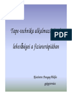 Pozsgay Miklos Tapetechnika Alkalmazasanak Lehetosegei a Fizioterapiaban