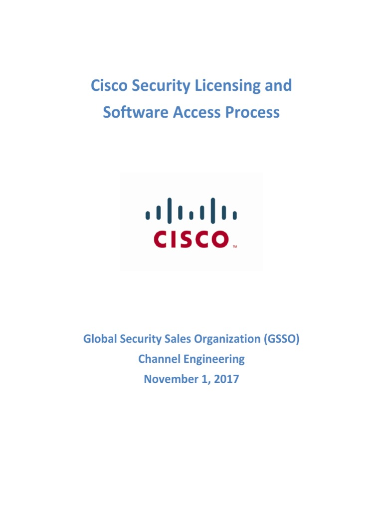 Cisco Security Licensing and Software Access 171028 | Cisco Systems