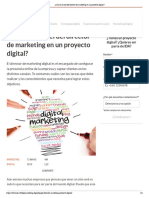¿Cuál es el rol del director de marketing en un proyecto digital_
