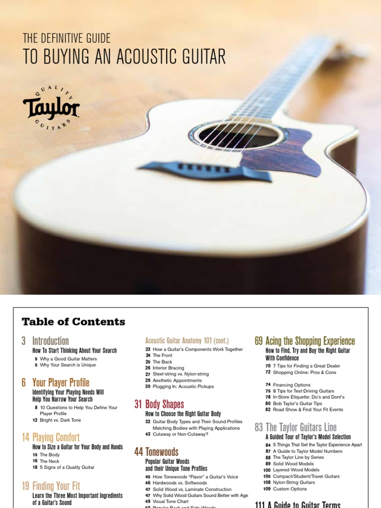 Taylor Guitars Guitar Buyers Guide 2017 | Guitars | String