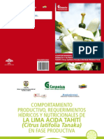 Comportamiento productivo requerimientos hídricos y nutricionales de la lima ácida Tahití Citrus latifolia Tanaka en fase productiva .pdf