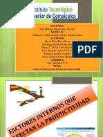 Factores Internos Que Afectan La Productividad
