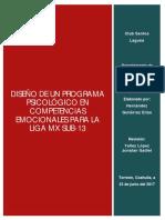 Diseño de Un Programa Psicológico en Competencias Emocionales Para La Liga Mx Sub-13