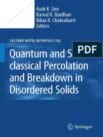 Quantum and Semi-classical Percolation and Breakdown in Disordered Solids