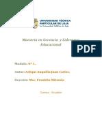 TRABAJO DE TECNOLOGÍA EDUCATIVA PARA LA GESTIÓN