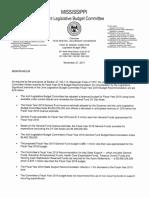 MS Legislature Fy19 Budget Recommendations