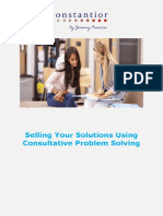 Selling Your Solutions Using Consultative Problem Solving