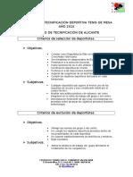 1. Proyecto Tecnificacion Tenis Mesa 2015