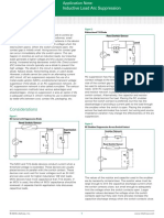 Littelfuse Magnetic Sensors and Reed Switches Inductive Load Arc Suppression Application Note.pdf