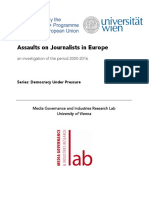 Assaults on Journalists in Europe