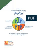 basadur creative problem solving profile