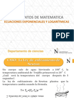 Ecuaciones Exponenciales y Logaritmicas