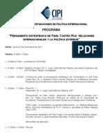 PROGRAMA Taller Sobre Pensamiento de Fidel Castro